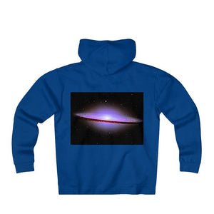 Unisex Heavyweight Fleece Zip Hoodie - El Sombrero and Andromeda galaxy - closes to the Earth at 2.5 million light-years - NASA image - Yunque Store