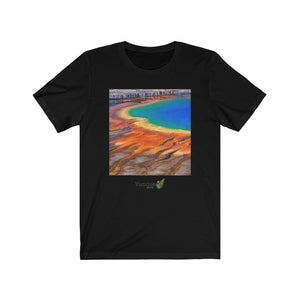 Unisex Jersey Short Sleeve Tee - 100% cotton Bella+Canvas3001 - HOT 😲 - Yellowstone Park Calderas and Thermal Springs - Wyoming - USA - Yunque Store