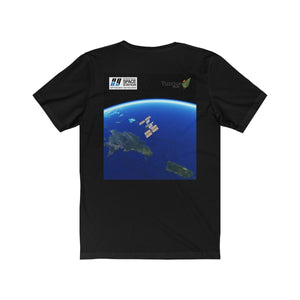 Unisex Jersey Short Sleeve Tee - Bella+Canvas 3001 - NASA ISS Astronauts Christina Koch and Jessica Meir - 1st ALL-WOMAN Walk in Space on Oct 18 2019 T-Shirt Printify