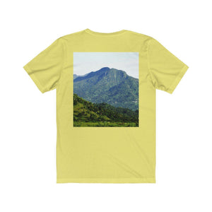 Unisex Jersey Short Sleeve Tee - Bromeliads and Yunque peak - Rio Sabana exploration T-Shirt Printify