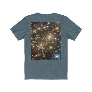 Unisex Jersey Short Sleeve Tee - Doors to the Universe - Horse nebula and NASA Deep field of Galaxies - NASA, HUBBLE, ESA T-Shirt Printify