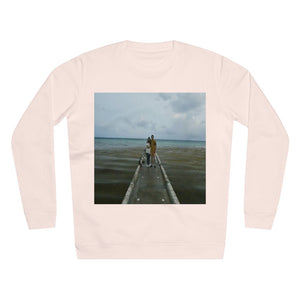 UNISEX Rise Sweatshirt - ON THE BEACH! - MADE IN GERMANY -- Remote & Pristine Mona Island near Puerto Rico -- great beach reminders... - Yunque Store