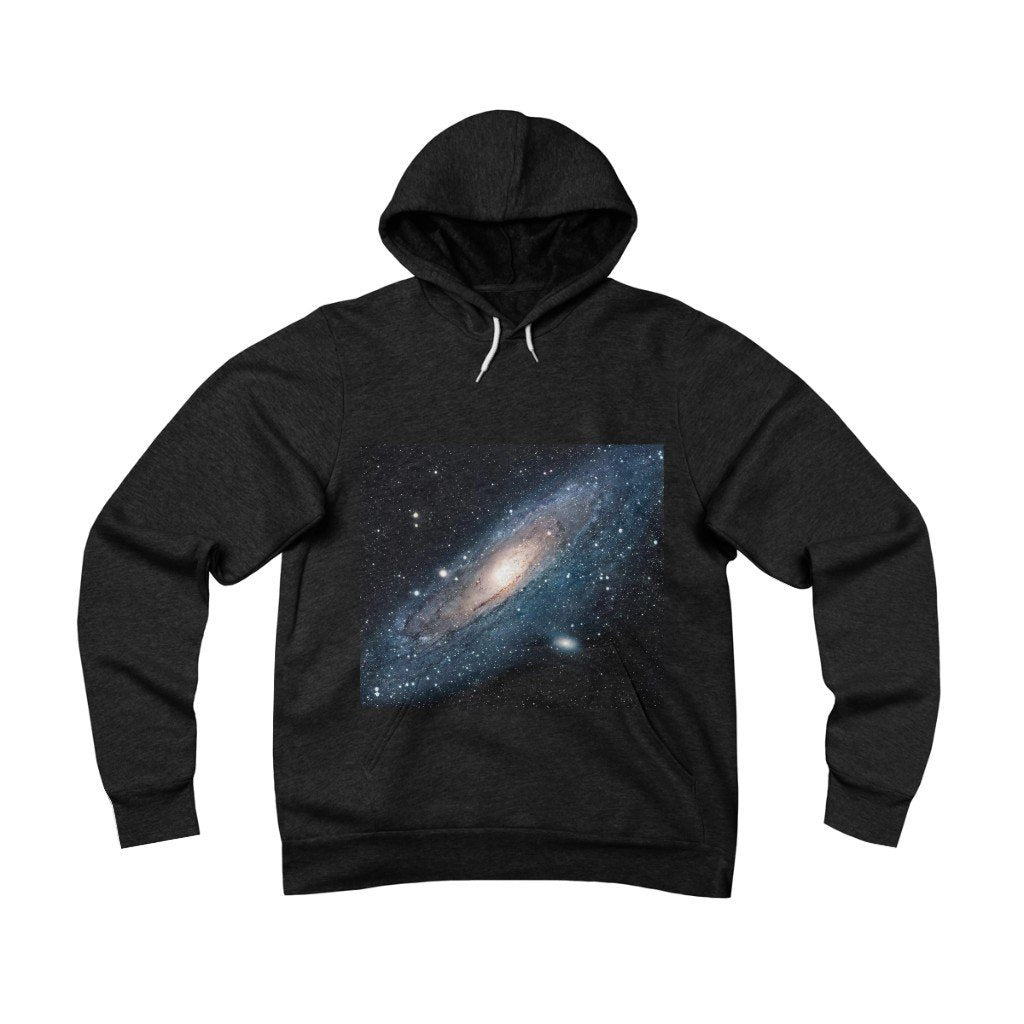 Unisex Sponge Fleece Pullover Hoodie - The Sombrero and Andromeda galaxy - closest to the Earth at 2.5 million light-years - NASA image - Yunque Store