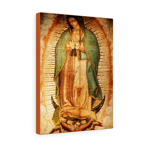 US MADE - Canvas Gallery Wraps - Our Lady Virgin of Guadalupe - Miracle apparition of Virgin Mary in 1531 to a humble peasant Indian in Mexico 👼 - Yunque Store