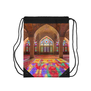 📢 US Made - Inspiring 💘 Mosque@Drawstring Bag - Awesome beauty of God (or Allah) in Muslim Mosque - Yunque Store