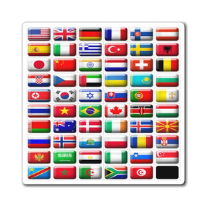 US Made - Magnets - Flags of the world - Yunque Store