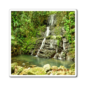 US Made - Magnets - for a Nature@Home experience - Hidden falls in La Coca Trail - El Yunque - Puerto Rico - Yunque Store