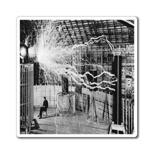 US Made - Magnets - The Genius Nikola Tesla in his Laboratory - pioneer of wireless energy transmission - Yunque Store
