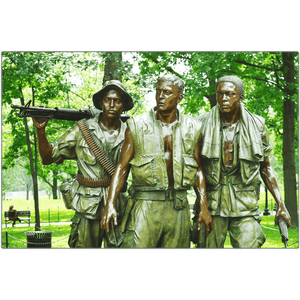 US Made Metal Prints - WA DC - Statue in memorial to Vietnam War Veterans - The statue depicts a European/African/ Hispanic American - Yunque Store