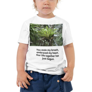US Print - 100% cotton - Toddler Short Sleeve Tee - Amazing rainforest Bromeliads and View from trails - El Yunque rainforest Puerto Rico - Yunque Store