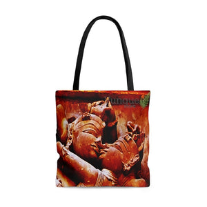 US Print - AOP Tote Bag - Ancient Tantric temples of India - The power of Divine Love of God - Yunque Store