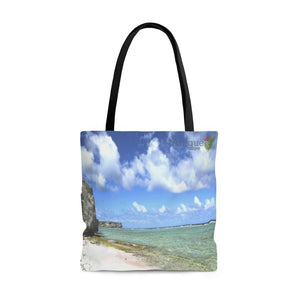 US Print - AOP Tote Bag - Awesome pristine Mona Island Pajaros beach - 50 miles from Puerto Rico - Yunque Store