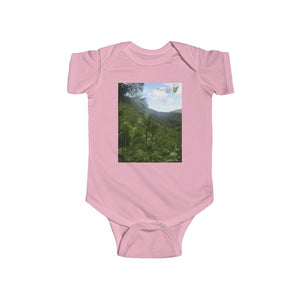 US PRINT - Infant Fine Jersey Bodysuit - Bring home the most remote, rarely seen, regions of the rainforest in Puerto Rico. - Yunque Store