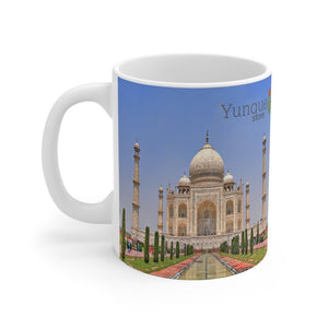 US Print - Mug 11oz - Awesome Taj Mahal - India - UNESCO Heritage site - Muslim mausoleum - Yunque Store