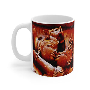 US Print - Mug 11oz - Tantric temples of India - statues - Love of God expressed as passion - Yunque Store