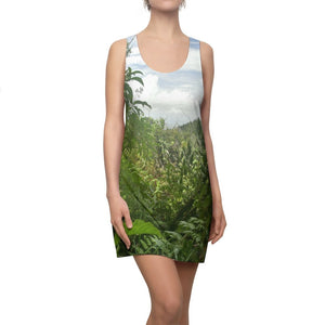 US Print - Women's Cut & Sew Racerback Dress - Bring home the most remote, rarely seen, regions of the rainforest in Puerto Rico El Toro Wilderness - Yunque Store