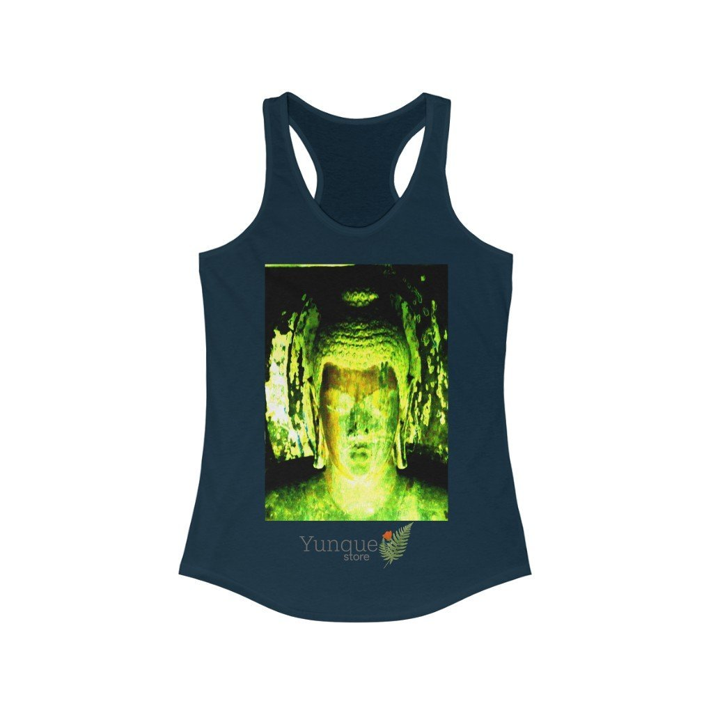 US Print - Women's Ideal Racerback Tank - The Buddha in Nirvanic peace in Ajanta caves India - Yunque Store