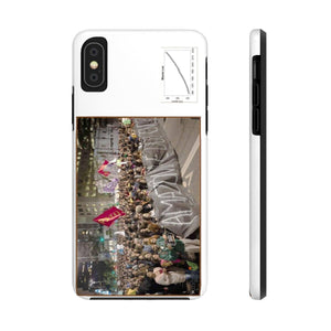 USA Print in 2-days - Case Mate Tough Phone Cases - Mouna Loa CO2 (Keeling curve) and Brazil protests due to Fires in the Amazon run wild due to Global warming and dirty politics Phone Case Printify