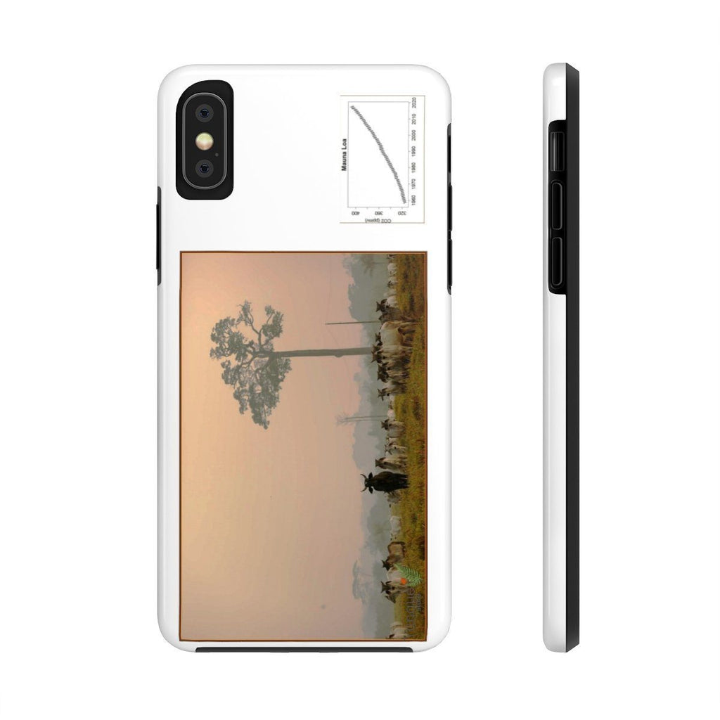 USA Print in 2-days - Case Mate Tough Phone Cases - Mouna Loa CO2 (Keeling curve) and Fires in the Amazon run wild due to Global warming and dirty politics Phone Case Printify