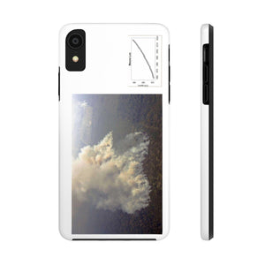USA Print in 2-days - Case Mate Tough Phone Cases - Mouna Loa CO2 (Keeling curve) and Huge Fires in the Amazon run wild due to Global warming and dirty politics Phone Case Printify