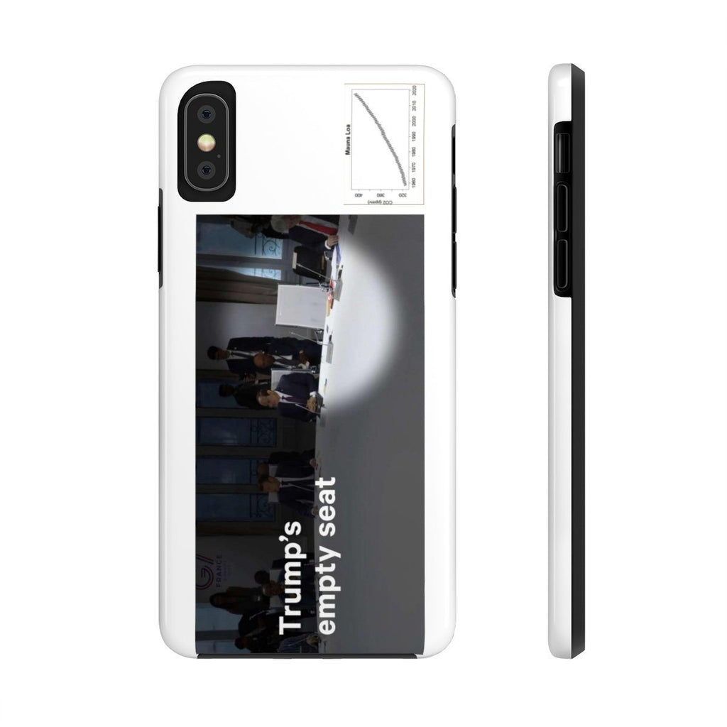 USA Print in 2-days - Case Mate Tough Phone Cases - Mouna Loa CO2 (Keeling curve) and Trump skips the G7 Climate Change meeting in France Phone Case Printify