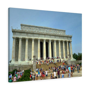 WA DC - Canvas Gallery Wraps - The Lincoln Memorial - American National monument built to honor the 16th President Abraham Lincoln Canvas Printify