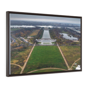 WA DC - Horizontal Framed Premium Gallery Wrap Canvas - Awesome view of WA DC from the 555 feet tall Washington Monument - Yunque Store