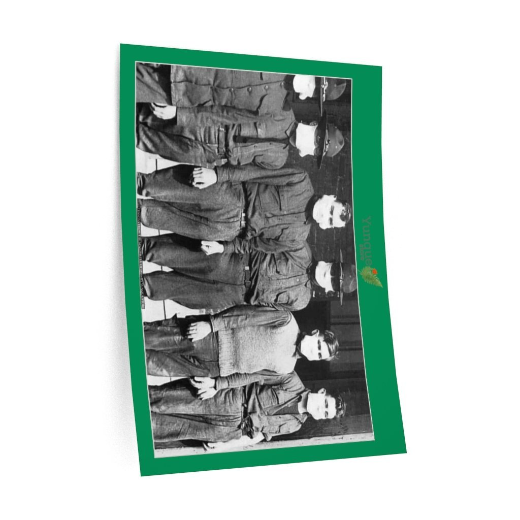 Wall Decals - Lessons of the Spanish Flu pandemic of 1918 - SOLDIERS FROM WWI WITH FACE MASKS - Yunque Store