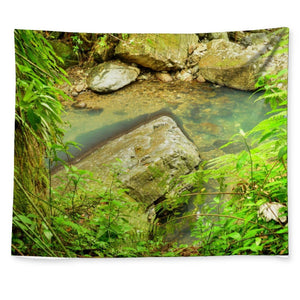 📢📢 Wall Tapestry - Awesome Magic Pond in La Mina river and trail - El Yunque rainforest Puerto Rico 😎🌴😲 - Yunque Store