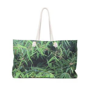 Weekender Bag - Bamboo tree from Rio Sabana park - El Yunque rain forest PR - Yunque Store