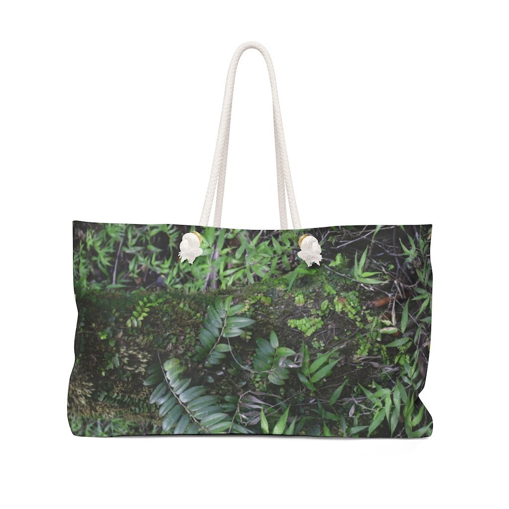 Weekender Bag - High altitude cloud forest Sierra Palm - full of moss/ferns due to > 180 inches of rain per year - Yunque Store