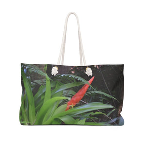 Weekender Bag - High altitude Sierra Palm cloud forest - Bromeliad in flower - 180 inches of rain per year - Yunque Store