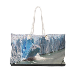 Weekender Bag - Keeling curve proof of Global Warming due to unprecedented CO2 growth in atmosphere, and Polar ice melting fast! - Yunque Store