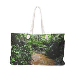 Weekender Bag - Rio Sabana river and trail exploration - tributary of river Bags Printify