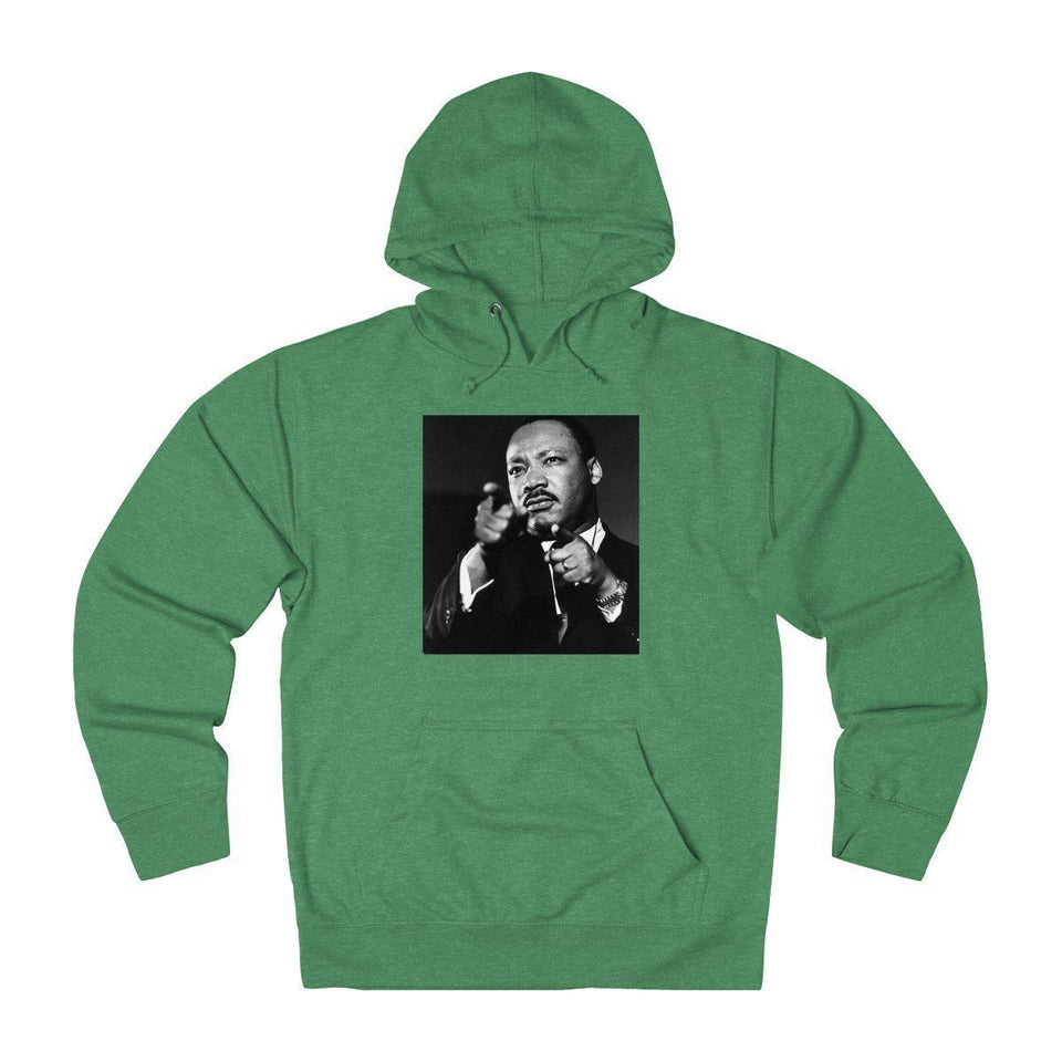 Winter Sale - Unisex French Terry Hoodie - In Homage of Dr. Martin Luther King Jr. - Nobel Peace prize - 196 Hoodie Printify