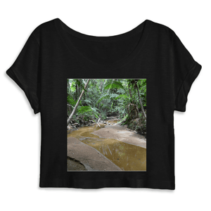 WOMEN ORGANIC CROP TOP - MANTIS - Holy Spirit river explorations - El Yunque rainforest PR - Yunque Store
