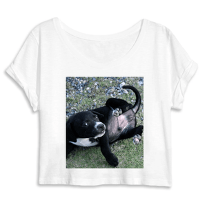 WOMEN ORGANIC CROP TOP - MANTIS - Puppy living in the forest in Humacao PR - Yunque Store