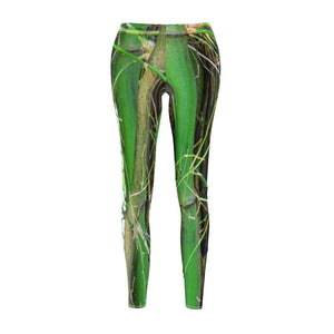Women's Cut & Sew Casual Leggings - Awesome bamboos from Rio Sabana park - El Yunque rain forest PR - Yunque Store