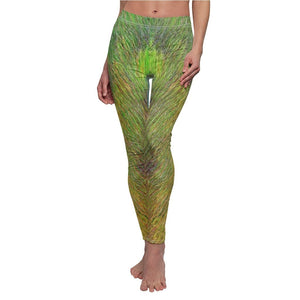 Women's Cut & Sew Casual Leggings - Beach algae pattern from REMOTE Mona Island - Galapagos of the Caribbean - Puerto Rico - Yunque Store