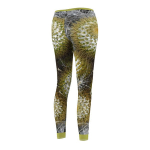 Women's Cut & Sew Casual Leggings - Cactus family - REMOTE Mona Island - Galapagos of the Caribbean - Puerto Rico - Yunque Store
