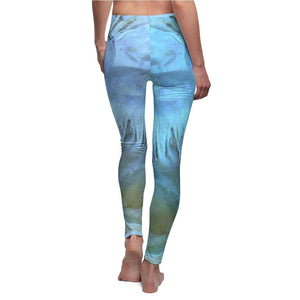 Women's Cut & Sew Casual Leggings - Cave limestone formations - REMOTE Mona Island - Galapagos of the Caribbean - Puerto Rico - Yunque Store