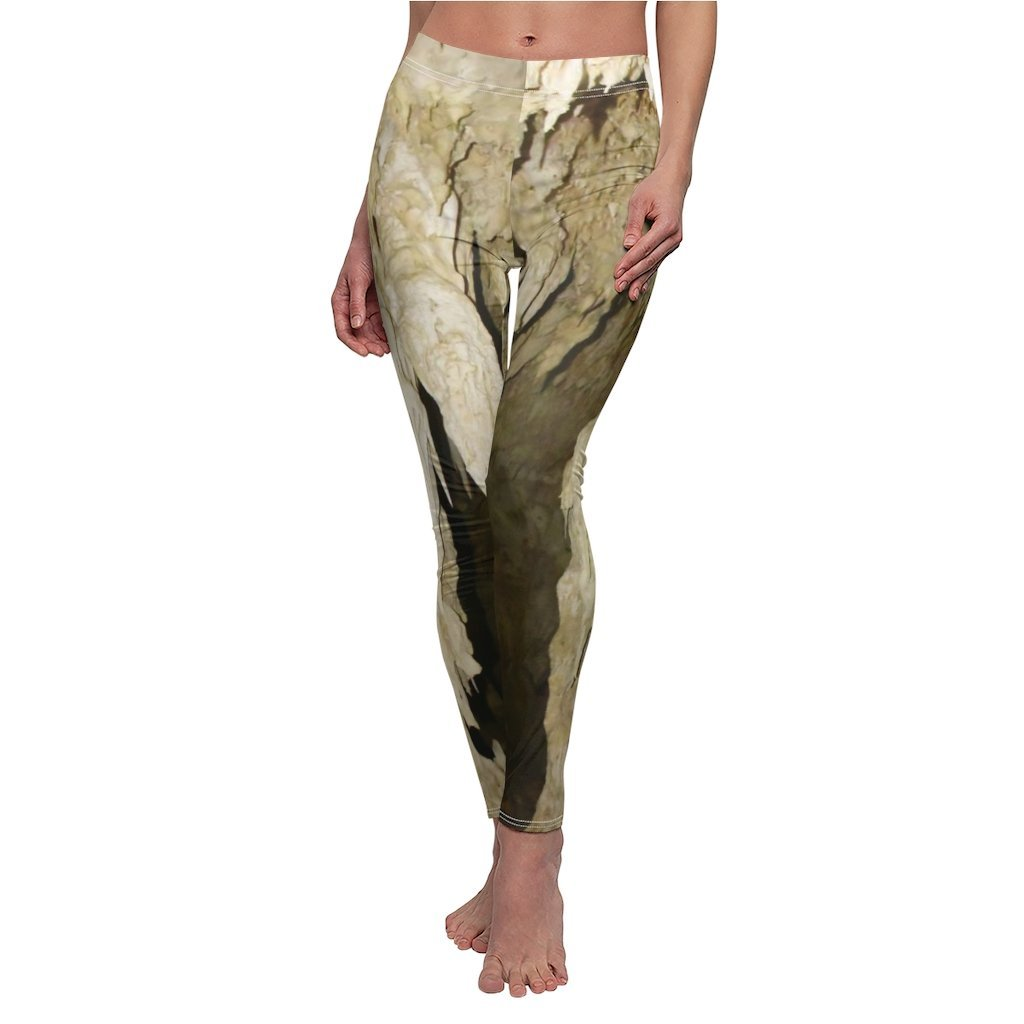 Women's Cut & Sew Casual Leggings - Cave stalactites in REMOTE Mona Island - Galapagos of the Caribbean - Puerto Rico - Yunque Store