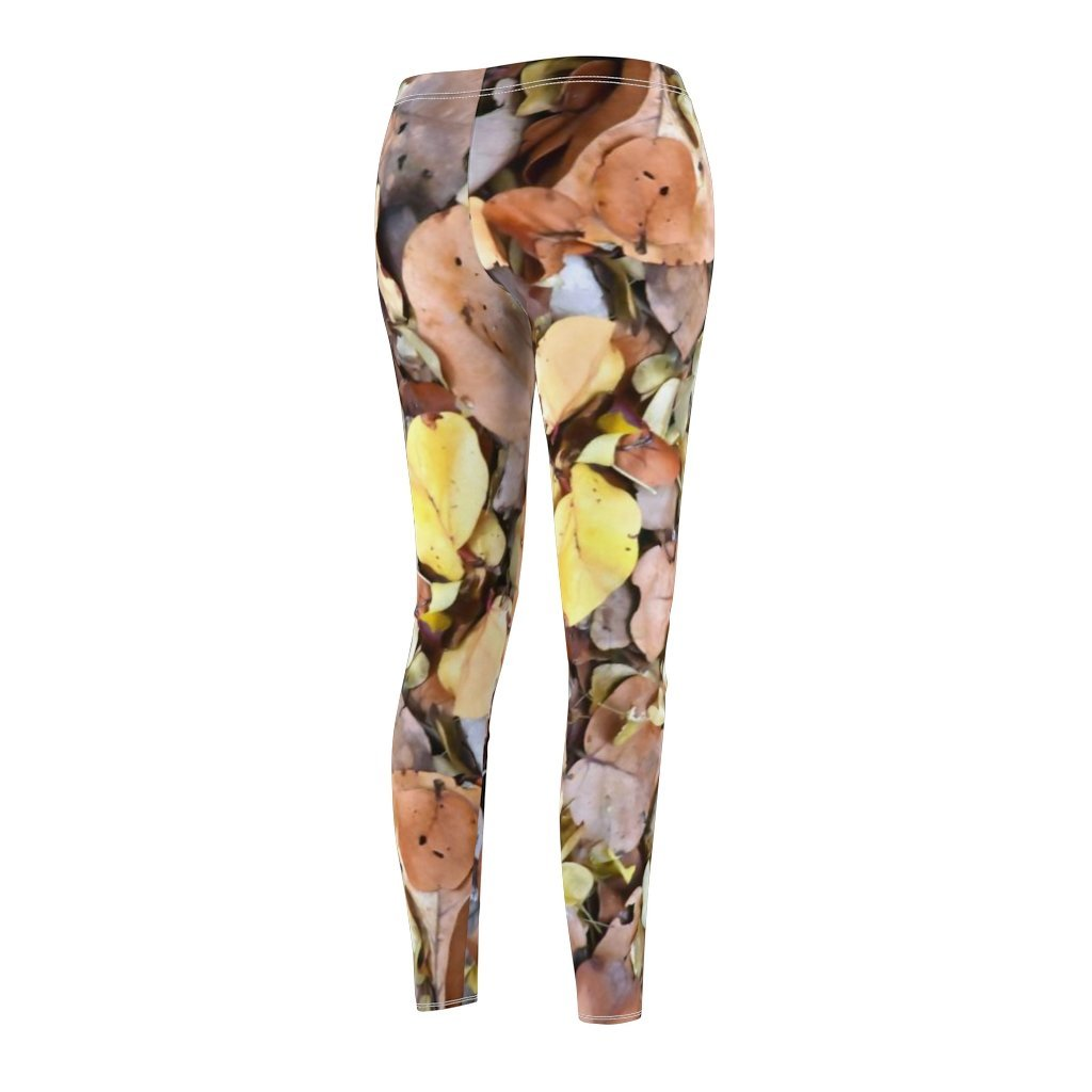 Women's Cut & Sew Casual Leggings - Dry leafs uvero cost trees - REMOTE Mona Island - Galapagos of the Caribbean - Puerto Rico - Yunque Store