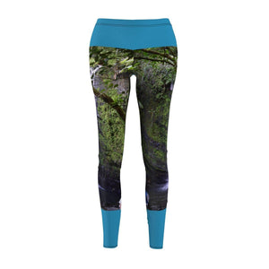 Women's Cut & Sew Casual Leggings - Juan Diego waterfall - El Yunque rainforest PR All Over Prints Printify