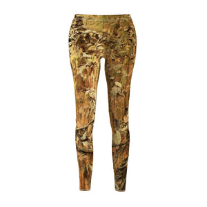 Women's Cut & Sew Casual Leggings - Landslide region - earth + leaves - Holy Spirit river - Yunque PR - Yunque Store