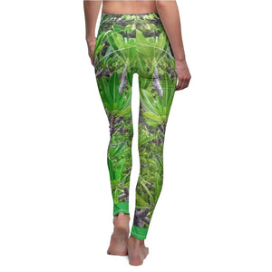 Women's Cut & Sew Casual Leggings - Plants that grow in boulders - REMOTE Mona Island - Galapagos of the Caribbean - Puerto Rico - Yunque Store