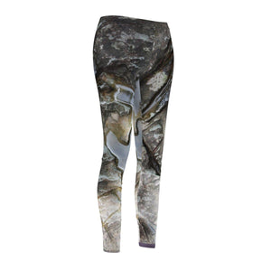Women's Cut & Sew Casual Leggings - Sculpted boulder (by the rain/river) next to river - El Yunque rain forest PR All Over Prints Printify