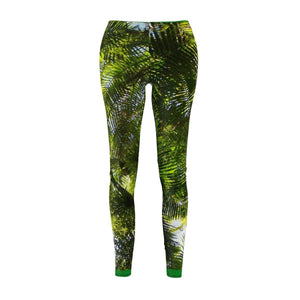 Women's Cut & Sew Casual Leggings - Sierra Palm canopy (before Hurr. Maria) in El Yunque rainforest PR All Over Prints Printify
