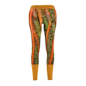 Women's Cut & Sew Casual Leggings - Sierra Palm strong roots - El Yunque rain forest PR All Over Prints Printify