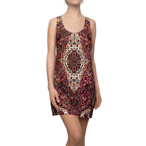 Women's Cut & Sew Racerback Dress - A wonderful PERSIAN RUG pattern both sides - Yunque Store